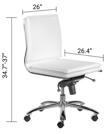 Gunar Pro Low Back Office Chair White
