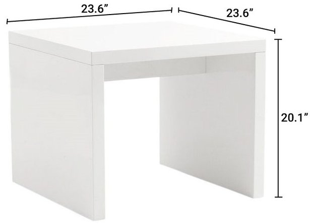 Abby Side Table White