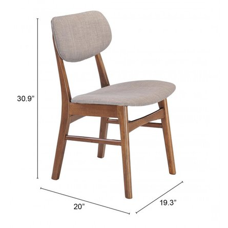 Midtown Dining Chair Dove Gray (Set of 2)