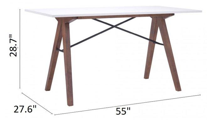 Saints Desk Walnut & White