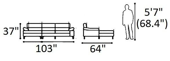 Ephemeral Sectional (LHF) Beige