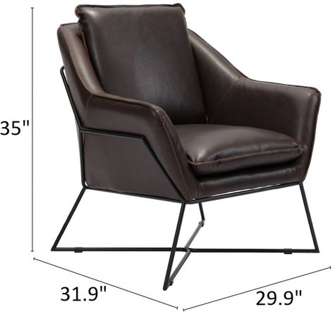 Lincoln Lounge Chair Brown