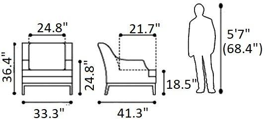 Ojai Arm Chair Champagne White