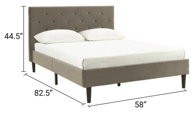 """Armando 54"""" Full Bed Gray"""