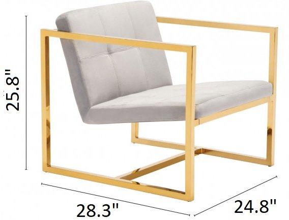 Alt Arm Chair Gray Velvet