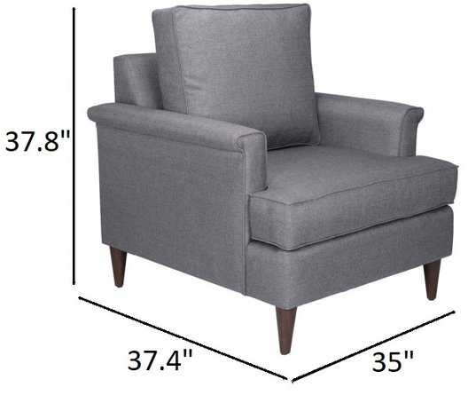 Campbell Arm Chair Dark Gray