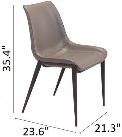 Magnus Dining Chair Gray & Walnut