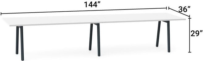 Sozh Conference Table White & Black