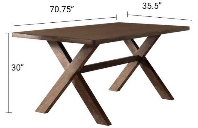 Alston Rustic Dining Table Knotty Nutmeg