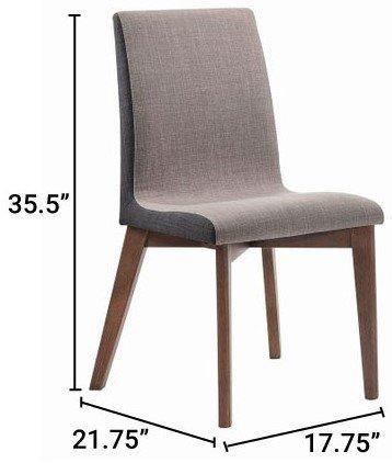 Redbridge Modern Dining Chair Natural Walnut (Set Of 2)