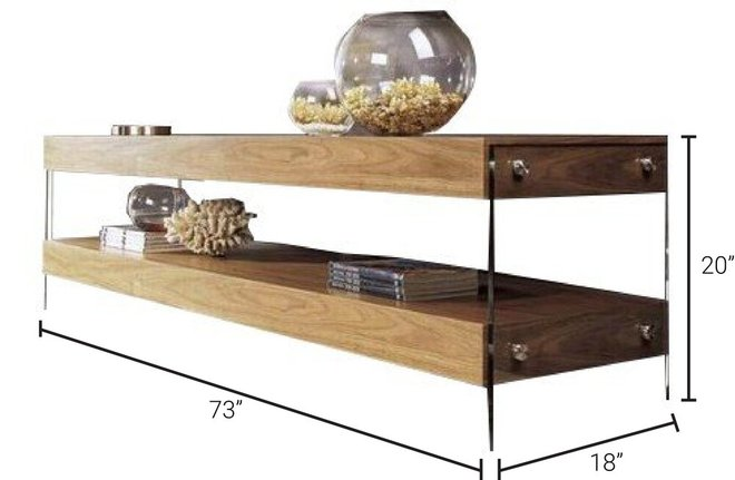 Modrest Aura Floating TV Stand Walnut