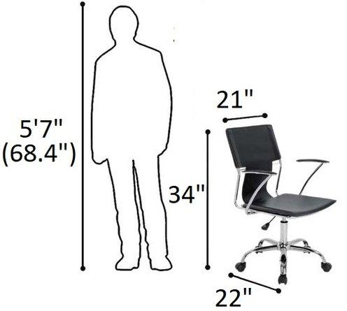 Emery Office Desk Chair Black