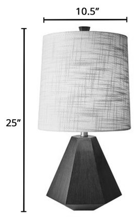 Grayson Table Lamp Walnut