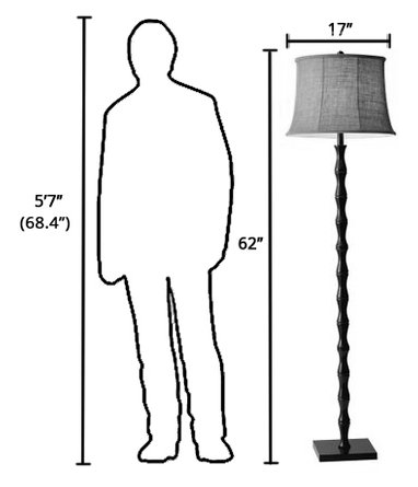 Stratton Floor Lamp Black