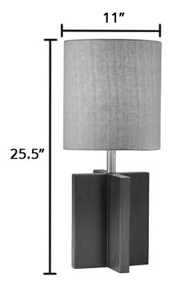 Marcus Table Lamp Walnut