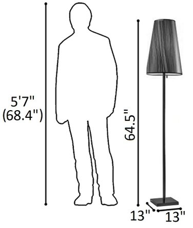 Ava Floor Lamp Black
