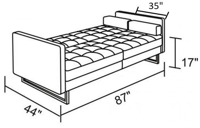 Divani Casa Bauxite Modern Sleeper Sofa Bed Gray