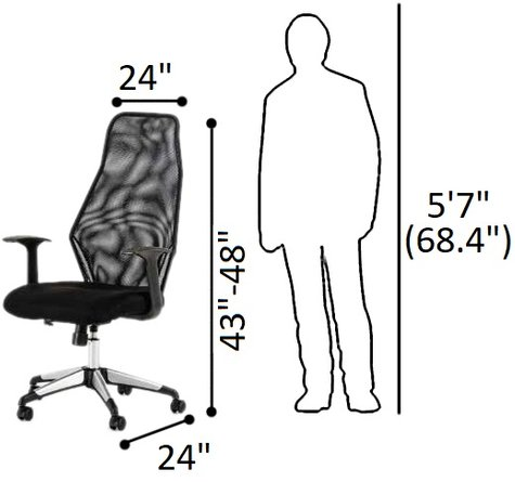 Garfield Modern Office Chair Black