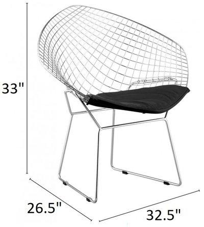 Net Dining Chair Black (Set of 2)