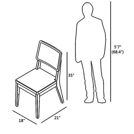 Pell Dining Chair Dark Beige/Maple Cream (Set Of 2)