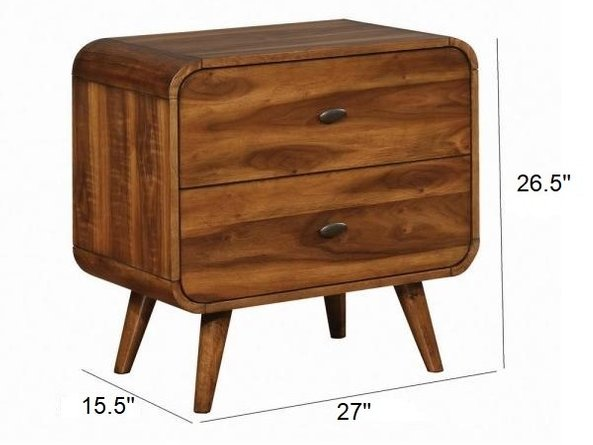 Robyn Nightstand Dark Walnut