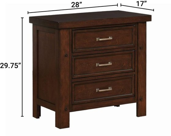 Barstow Transitional Nightstand Pinot Noir