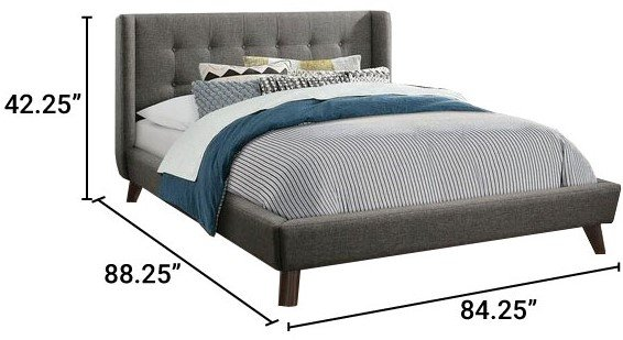 Carrington Upholstered King Bed Gray