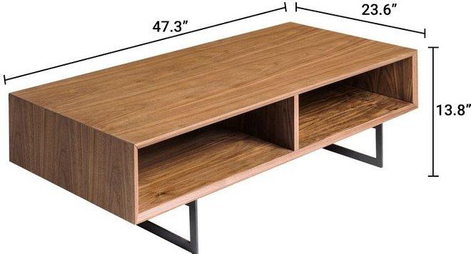 """Anderson 48"""" Coffee Table Walnut & Dark Gray"""