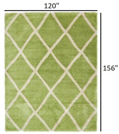 Opulence Trellis Shag 10' x 13' Rug Light Green