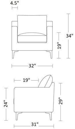 Interior Define Sloan Petite Chair Emerald