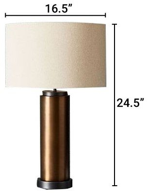 West Elm Pillar Table Lamp Burnished Brass
