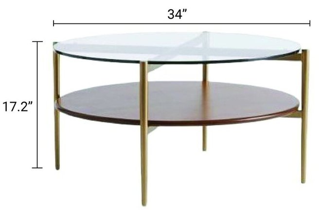 West Elm Art Display Coffee Table Walnut And Antique Brass