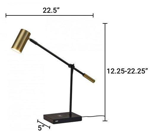 Collette Charge LED Desk Lamp Black