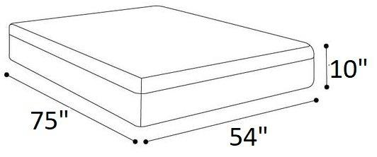 """Eight Full Mattress 10"""" White"""