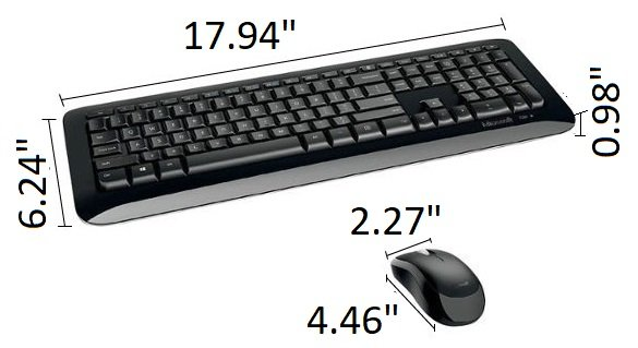 Microsoft Wireless Desktop Keyboard and Mouse Black