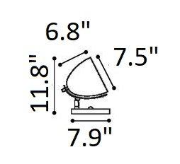 Jog Table Lamp Chrome