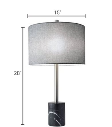 Blythe Table Lamp Black