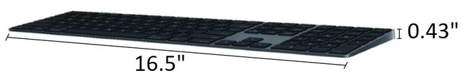 Apple MagicWireless Keyboard with Numeric Keypad Space Gray