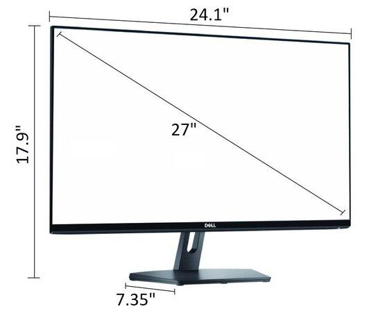 "Dell 27"" IPS LED FHD FreeSync Monitor Piano Black"