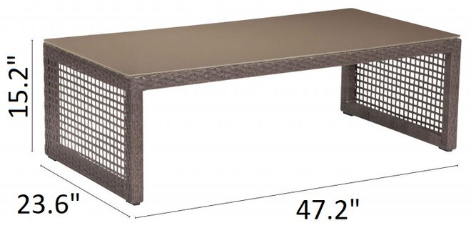 Glass Beach Coffee Table Taupe & Granite