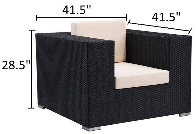 Cartagena Arm Chair Espresso & Beige