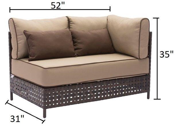 Pinery RHF Corner Sofa Brown & Beige