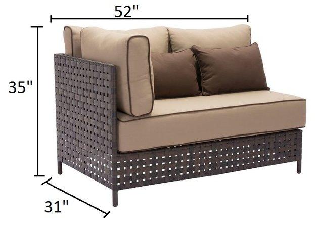 Pinery LHF Corner Sofa Brown & Beige