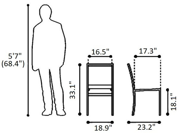 Mayakoba Dining Chair Brown (Set of 2)