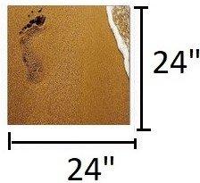 Modrest Footprints 3-Panel Photo Multicolor