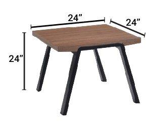 Modrest Rhett Modern End Table Walnut And Black