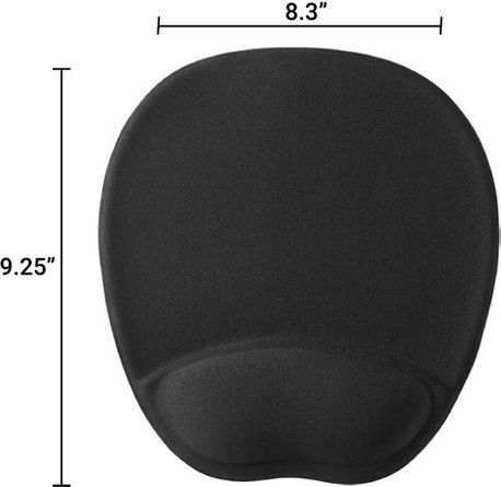 Insignia Mouse Pad Wrist Rest Black
