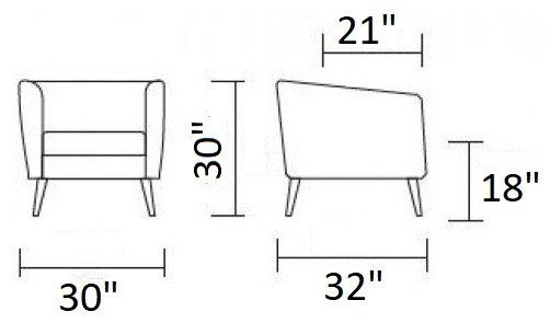 Divani Casa Bannack Modern Lounge Chair Dark Gray