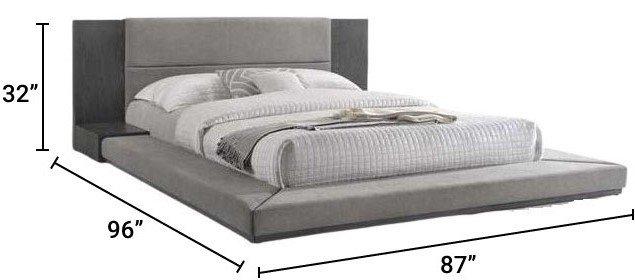 Nova Domus Jagger Queen Bed Gray