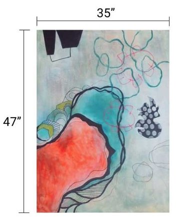 Modrest ADC8410 Abstract Oil Painting Multicolor